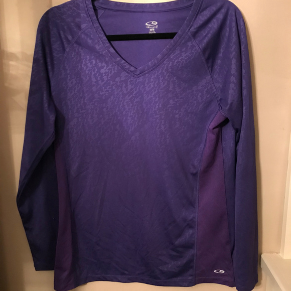6a9baa90 Champion Tops | C9 Long Sleeved Purple Workout Top Size Medium ...